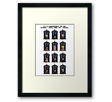 8-bit Doctor Who Framed Print