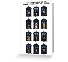 8-bit Doctor Who Greeting Card