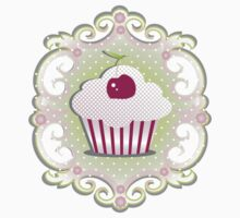 A cupcake with frosting by Kisho