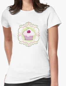 A cupcake with frosting Womens Fitted T-Shirt