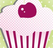 A cupcake with frosting Sticker