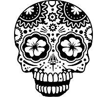 A laughing Sugar Skull  Photographic Print