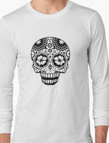 A laughing Sugar Skull  Long Sleeve T-Shirt