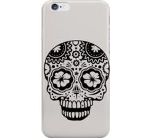 A laughing Sugar Skull  iPhone Case/Skin