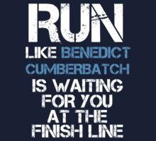 Run Like Benedict Cumberbatch is Waiting (dark shirt) by slitheenplanet