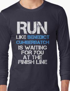 Run Like Benedict Cumberbatch is Waiting (dark shirt) Long Sleeve T-Shirt