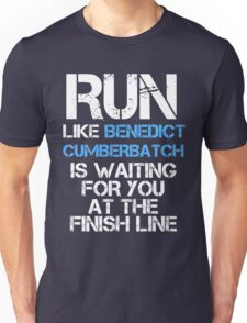Run Like Benedict Cumberbatch is Waiting (dark shirt) Unisex T-Shirt