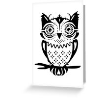 An owl sitting on a branch  Greeting Card