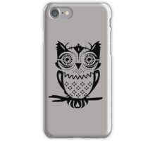 An owl sitting on a branch  iPhone Case/Skin