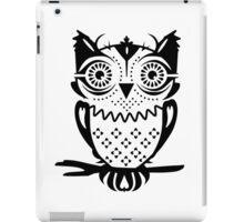 An owl sitting on a branch  iPad Case/Skin