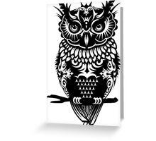 A dark owl  Greeting Card