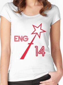 ENGLAND STAR Women's Fitted Scoop T-Shirt