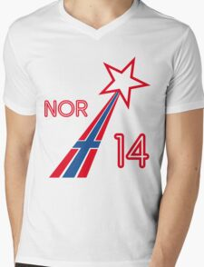 NORWAY STAR Mens V-Neck T-Shirt
