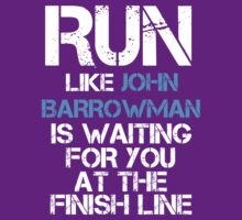 Run like John Barrowman is Waiting (dark shirt) by slitheenplanet