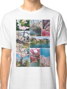 Beautiful Sakura Cherry Blossoms Park Pond Garden Spring Classic T-Shirt