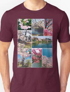 Beautiful Sakura Cherry Blossoms Park Pond Garden Spring Unisex T-Shirt