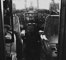 Vintage Airplane Cockpit by Kimberose