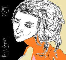 Female Head/Copied -(100214)- Digital artwork/MS Paint by paulramnora