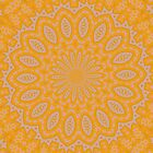 Orange Lace Kaleidoscope by taiche