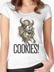 Cookies! - Viking Women's Fitted Scoop T-Shirt