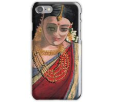 A demure coy lady wearing flowers iPhone Case/Skin
