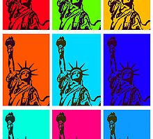 STATUE of LIBERTY POP ART by Daniel-Hagerman