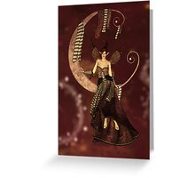 Whimsical Moon Fairy Greeting Card
