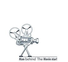 man behind the movie star by djapart
