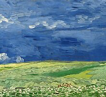 Vincent van Gogh - Wheatfield under thunderclouds by TilenHrovatic