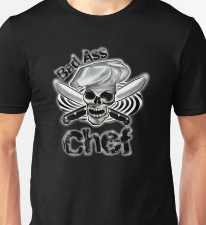 Bad Ass Chef with Knives and Spiral Unisex T-Shirt