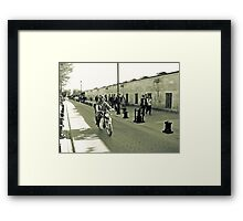 Walking Framed Print