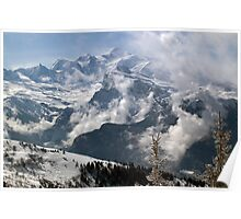 Dramatic view of Mont Blanc  Poster