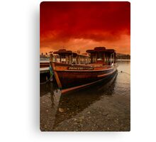 lake Windermere Boat Canvas Print