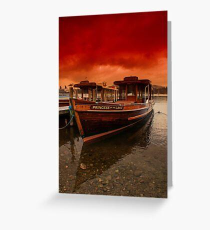 lake Windermere Boat Greeting Card