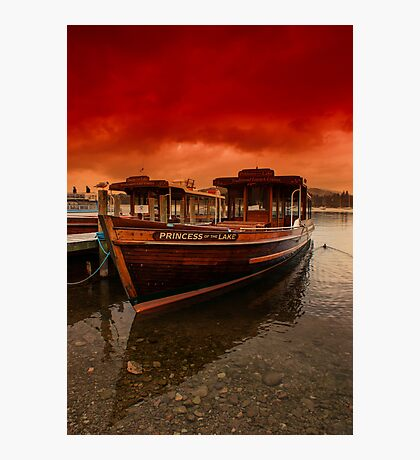lake Windermere Boat Photographic Print