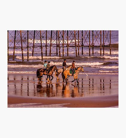 Morning Ride Saltburn Photographic Print