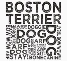 Boston Terrier by Wordy Type