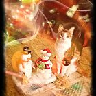 """Moire and Mr. and Mrs. Snowman by Edmond J. [""""Skip""""] O'Neill"""