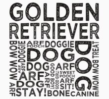 Golden Retriever by Wordy Type