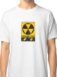 Fallout Shelter Sign  Classic T-Shirt