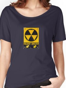 Fallout Shelter Sign  Women's Relaxed Fit T-Shirt