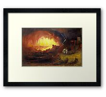 The Destruction of Sodom and Gomorrah, 1852,  John Martin (English,  Framed Print