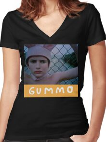 Gummo Women's Fitted V-Neck T-Shirt
