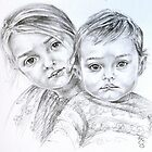 Double portrait by Francesca Romana Brogani