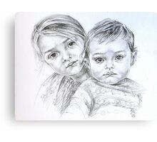 Double portrait Canvas Print