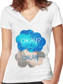 Okay? Okay Women's Fitted V-Neck T-Shirt