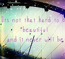 you're beautiful by kaybaydanemz
