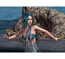 Blue Mermaid Photographic Print