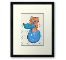 Merkitten Life Lesson #14 - You are NOT your food Framed Print