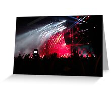 Electric Zoo Concert Greeting Card